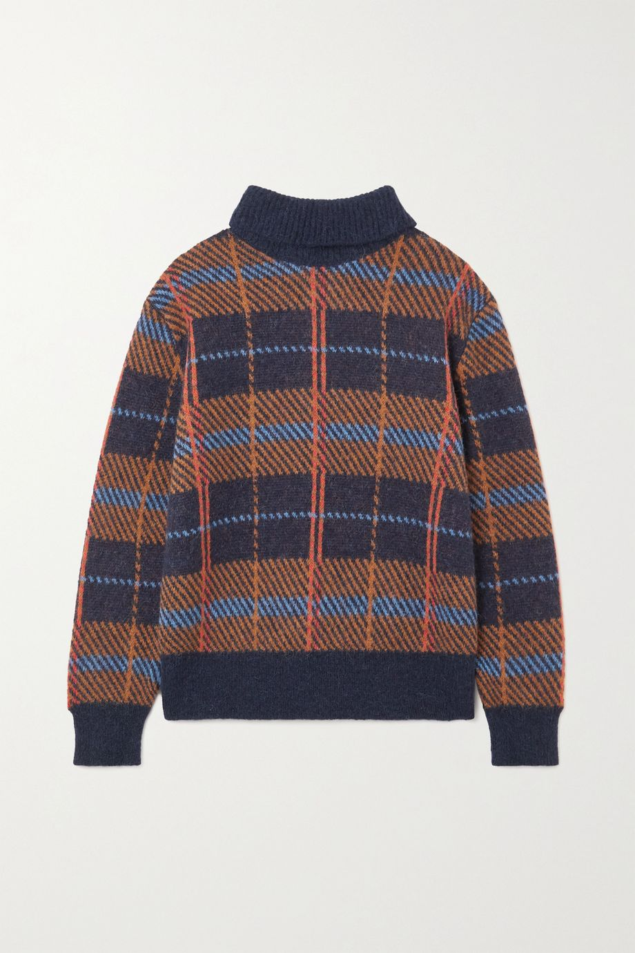 Dries Van Noten Maldives checked alpaca-blend sweater