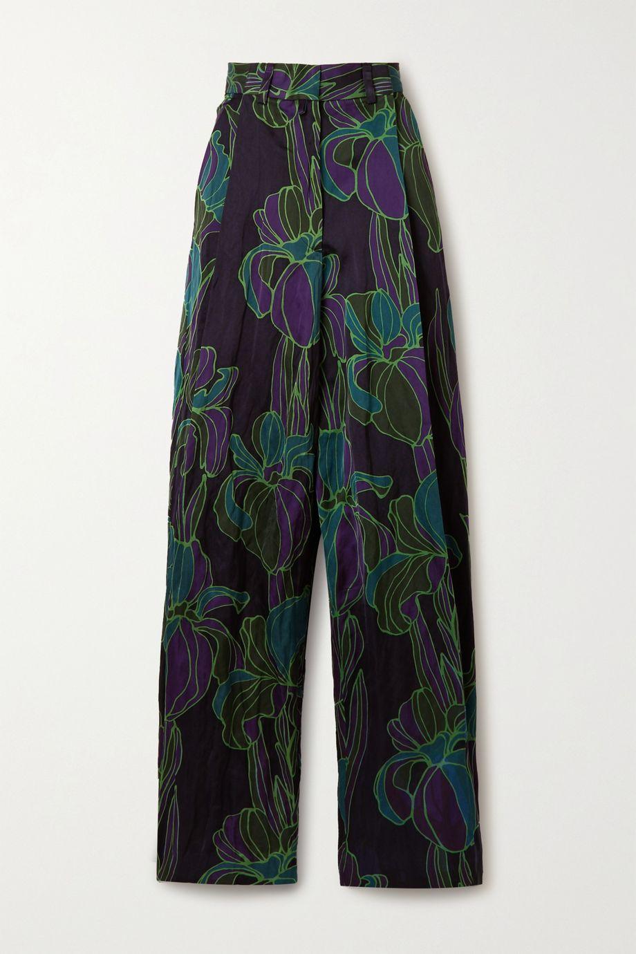 Dries Van Noten Floral-print woven wide-leg pants