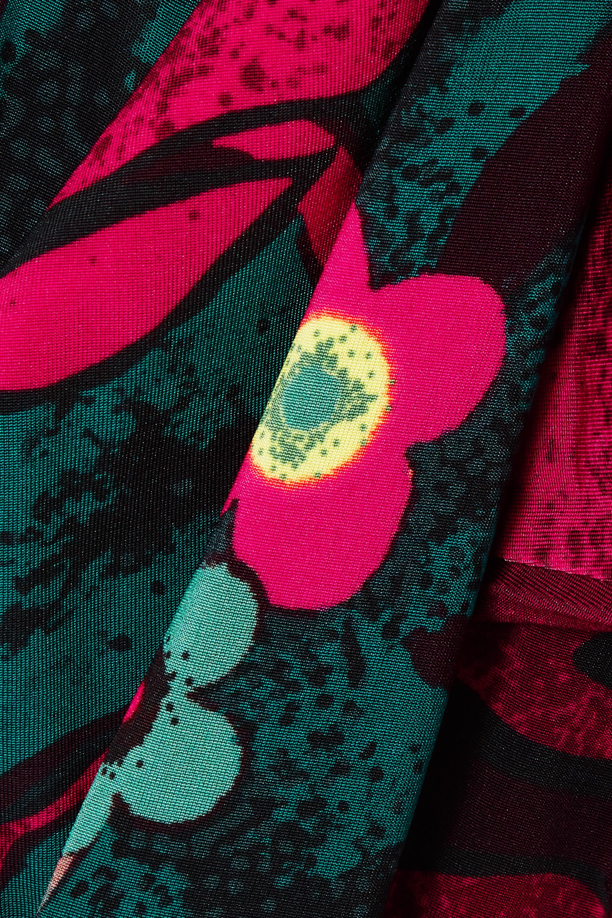 Fuchsia Floral-print Stretch-jersey Leggings | Dries Van Noten