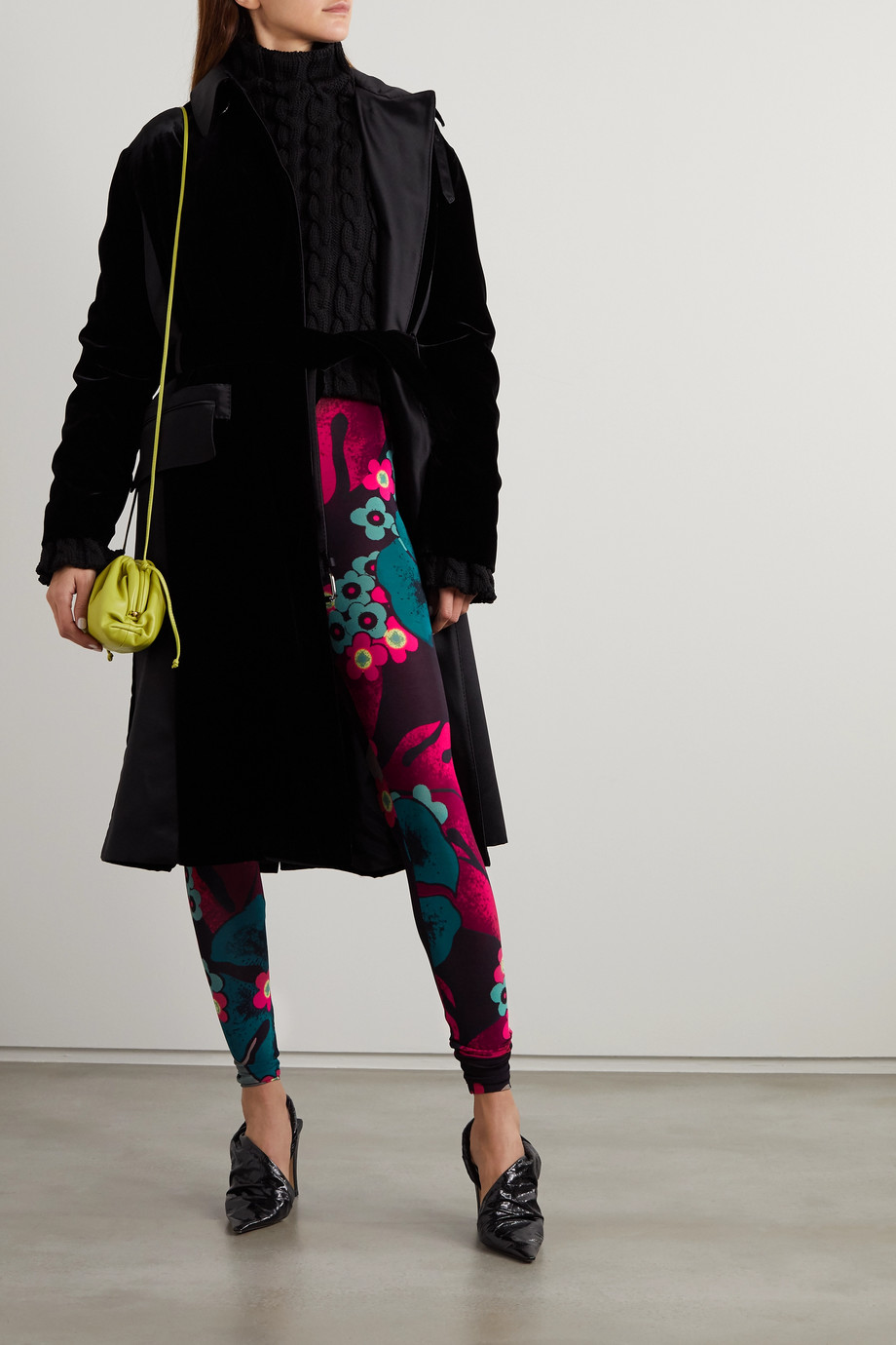 Dries Van Noten Leggings aus Stretch-Jersey mit Blumenprint