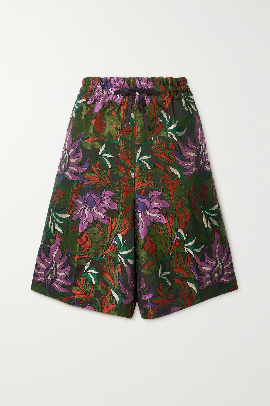 Dries Van Noten Floral-jacquard shorts