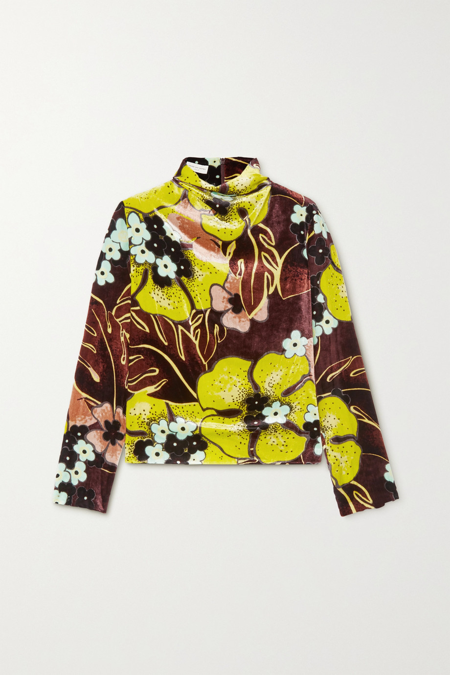 Dries Van Noten Floral-print velvet top