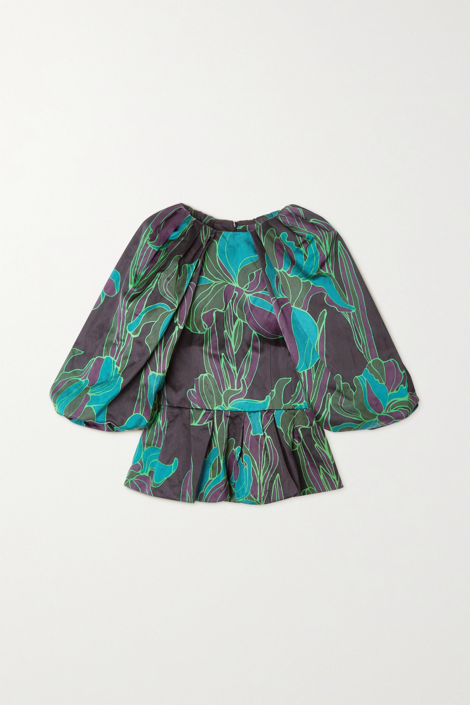 Dries Van Noten Bluse aus Webstoff mit Blumenprint