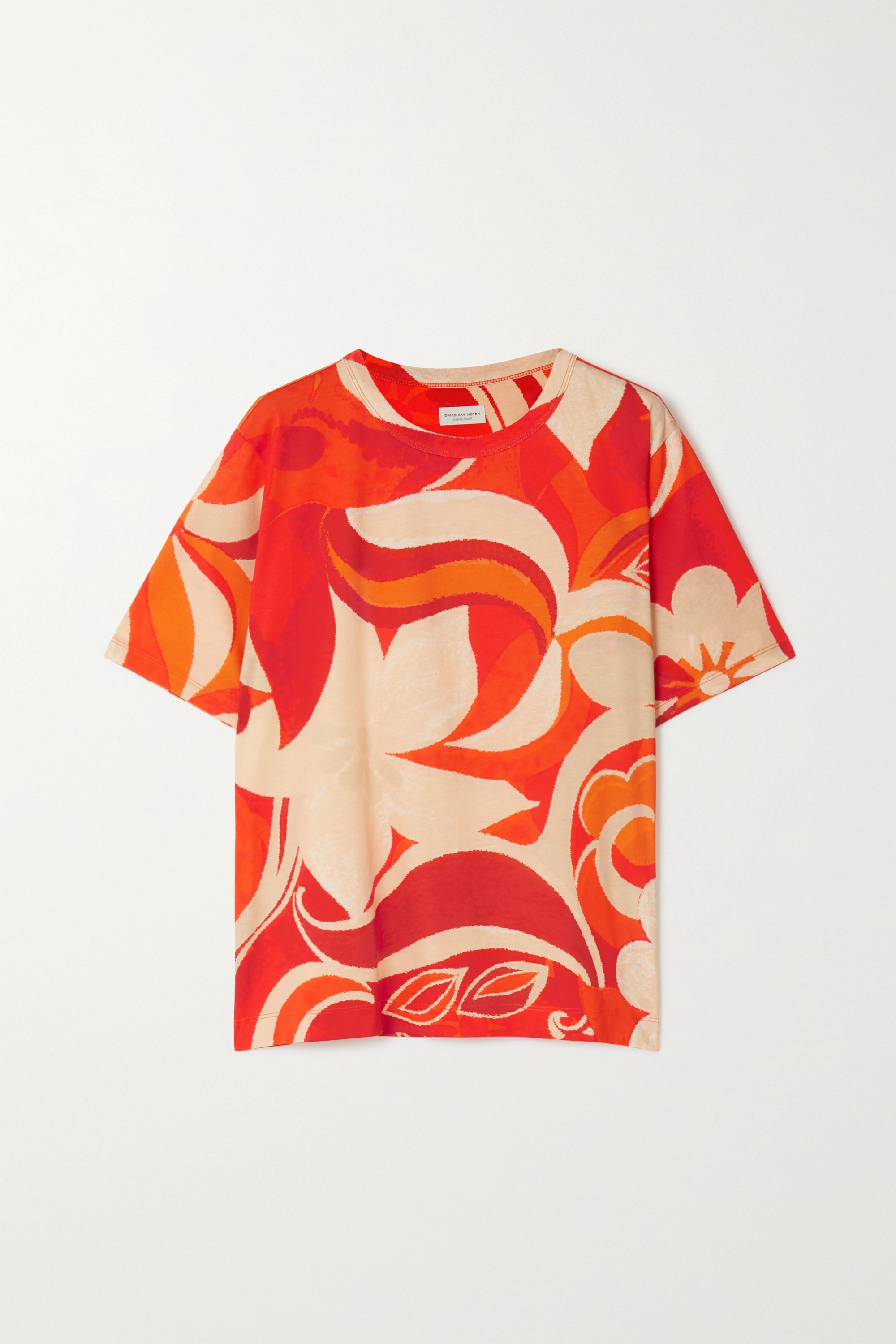 Dries Van Noten Oversized-T-Shirt aus Baumwoll-Jersey mit Blumenprint