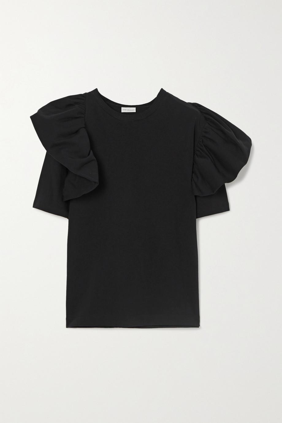 Dries Van Noten Ruffled cotton-jersey t-shirt