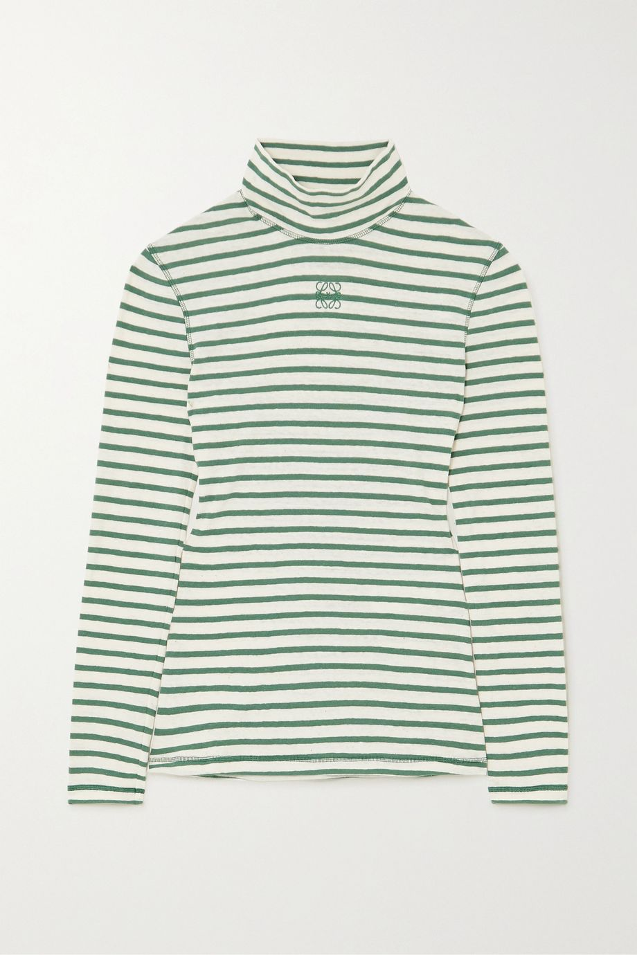 Loewe Striped cotton-jersey turtleneck top