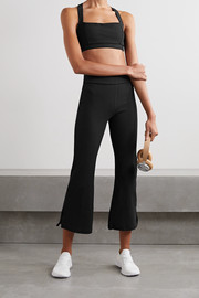 The Upside Zen cropped ribbed stretch flared pants