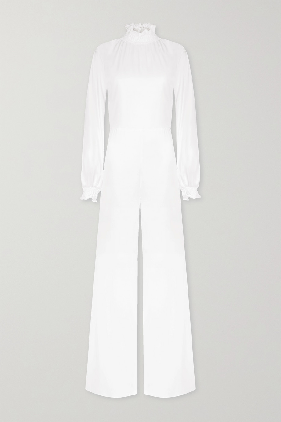 Vanessa Cocchiaro Mary ruffled satin jumpsuit