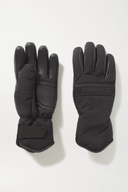 BOGNER FIRE+ICE Ilona shearling-lined padded leather and shell ski gloves