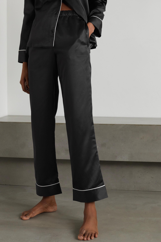 Calvin Klein Underwear Piped satin pajama set