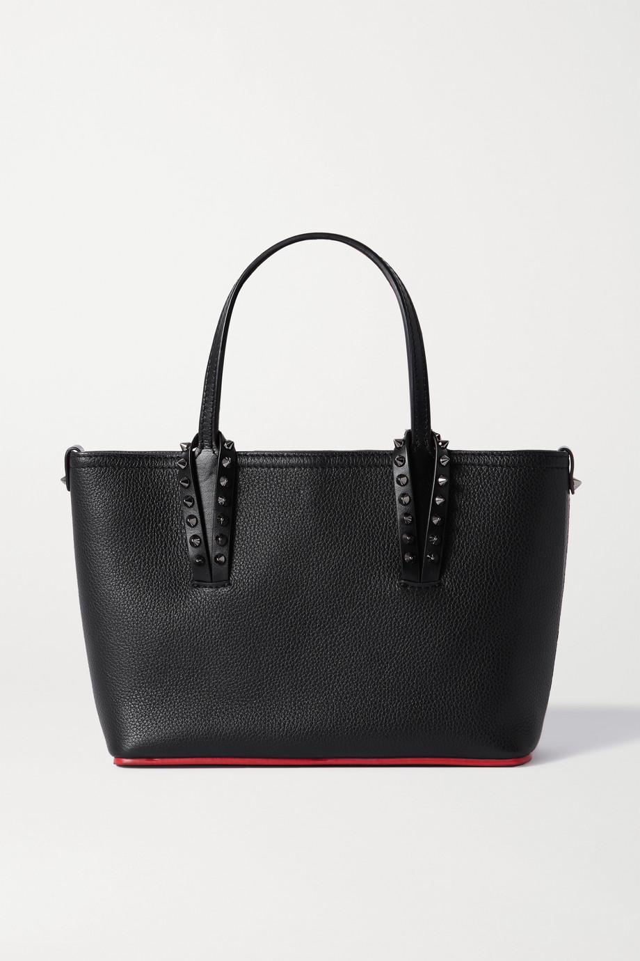 Christian Louboutin Cabata mini spiked textured-leather tote