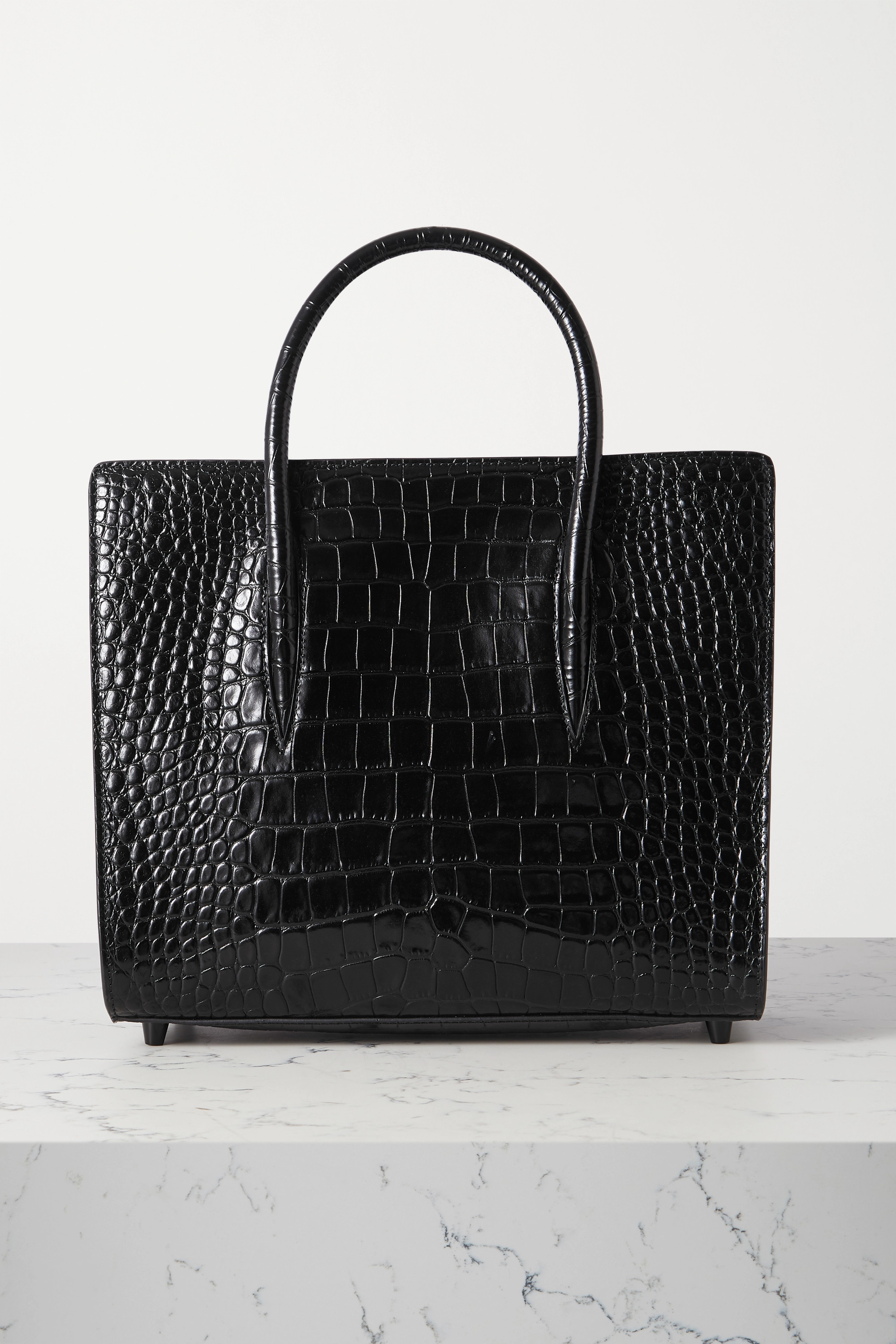 Christian Louboutin Paloma medium rubber-trimmed croc-effect leather tote