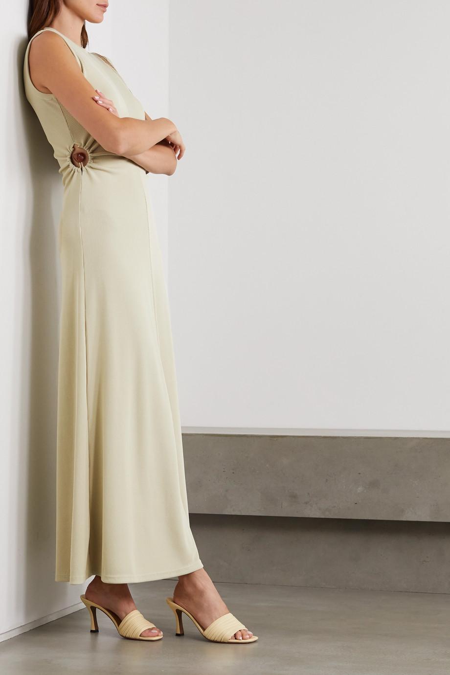 Christopher Esber Orbit Fran embellished cutout ribbed-knit maxi dress