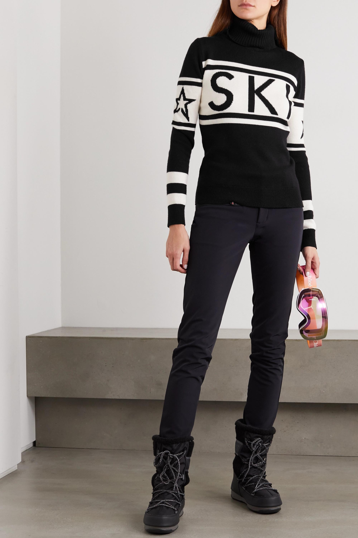 Perfect Moment Schild intarsia merino wool turtleneck sweater