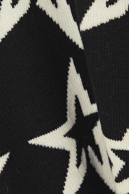 Perfect Moment Star Dust intarsia merino wool turtleneck sweater
