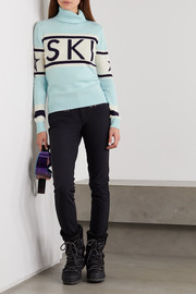 Perfect Moment Schild intarsia merino wool turtleneck sweater