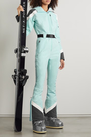 Perfect Moment Allos hooded belted color-block ski suit
