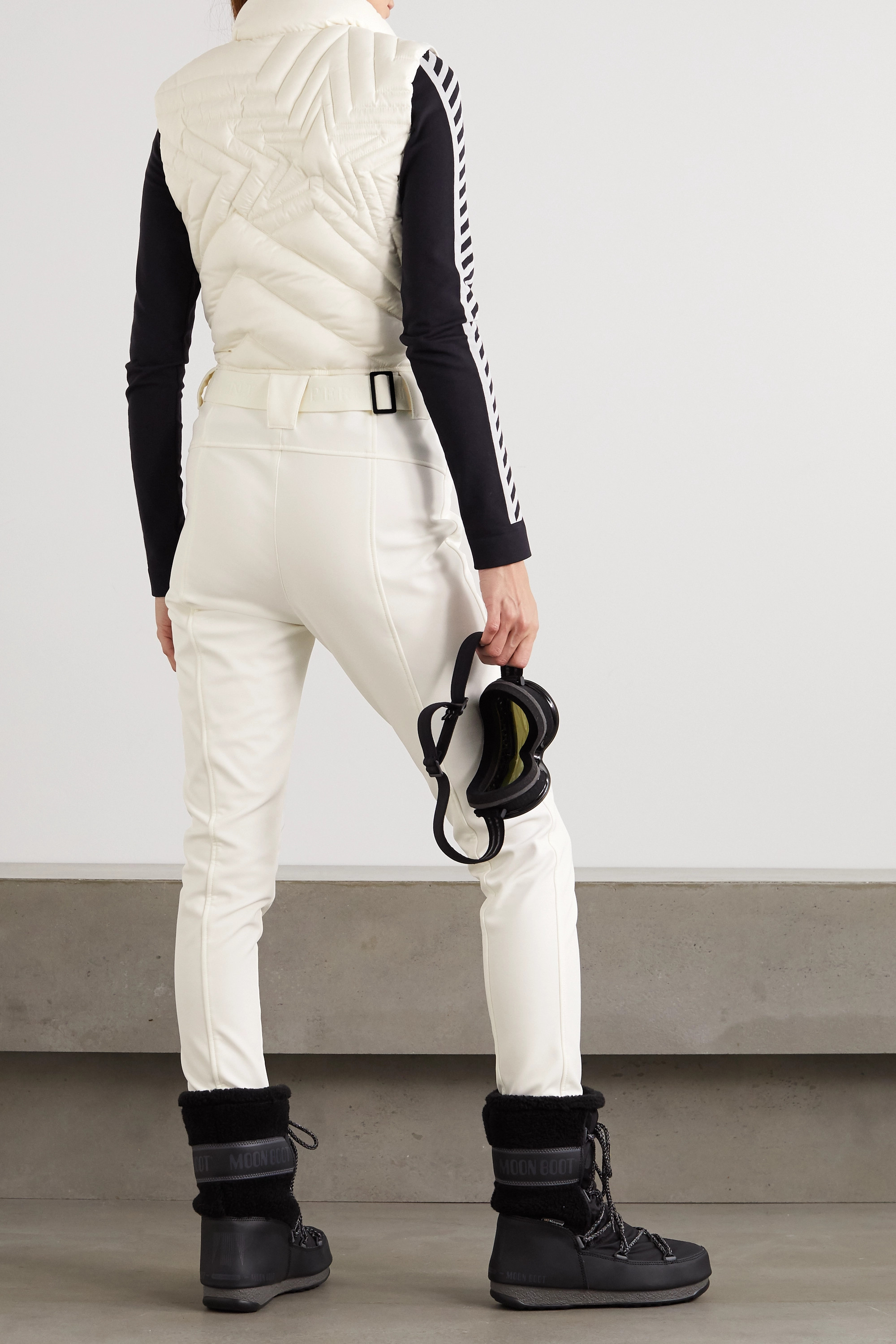 Perfect Moment Superstar belted quilted down ski suit