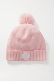 Perfect Moment Pompom-embellished merino wool-blend beanie
