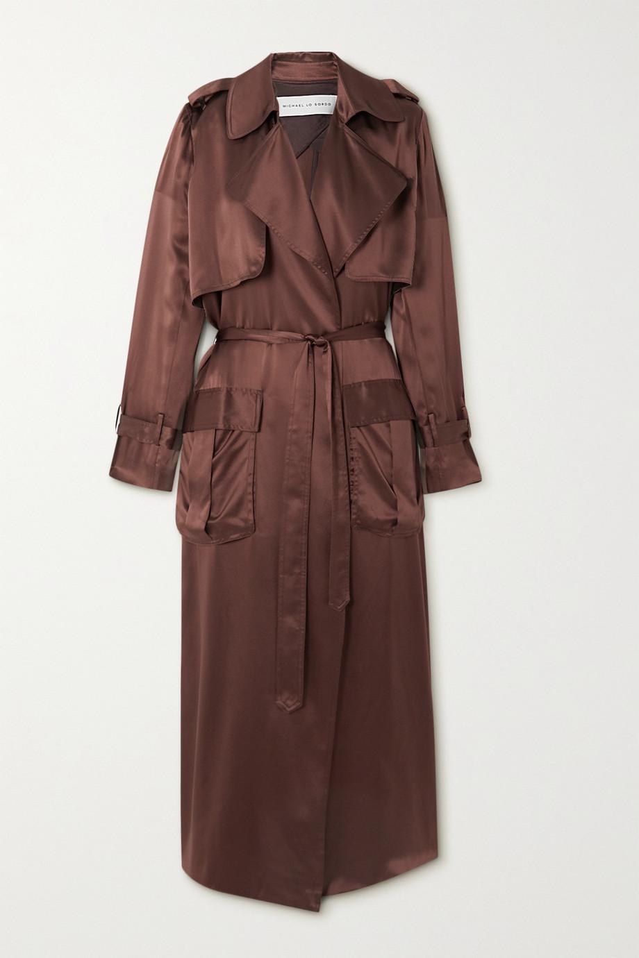 Michael Lo Sordo Silk-satin trench coat