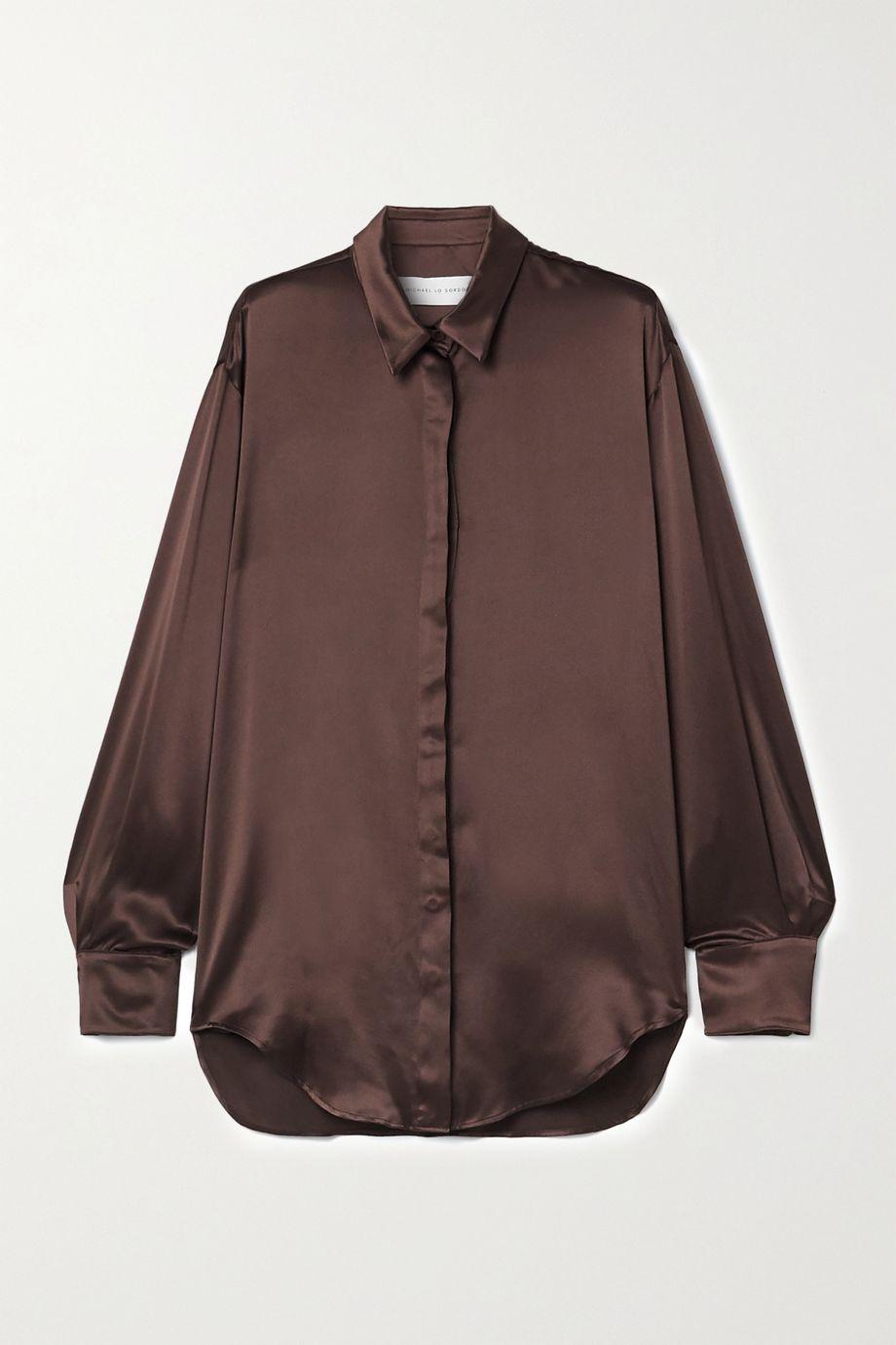 Michael Lo Sordo Oversized-Hemd aus Seidensatin