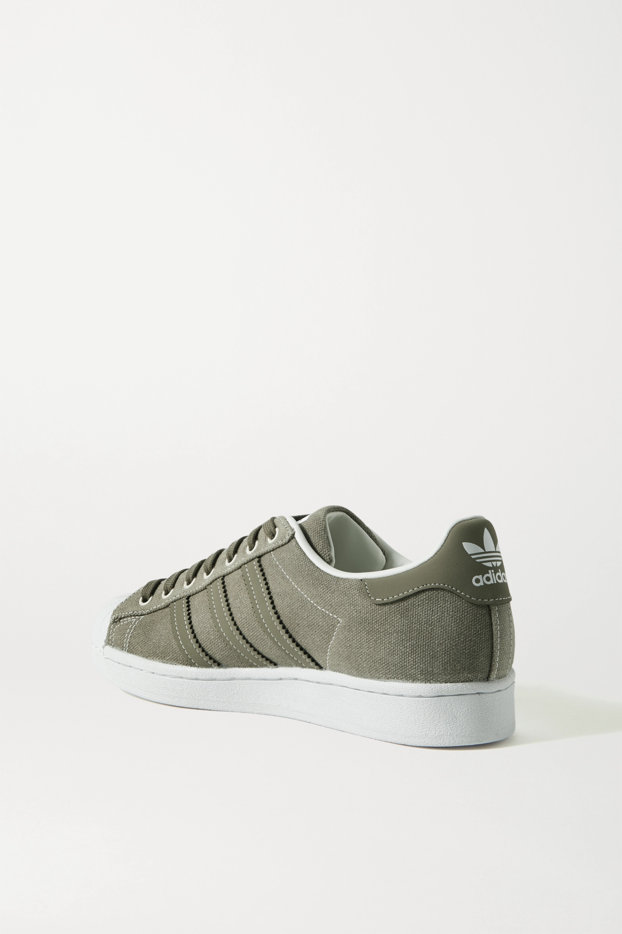 adidas Originals Superstar rubber-trimmed canvas sneakers