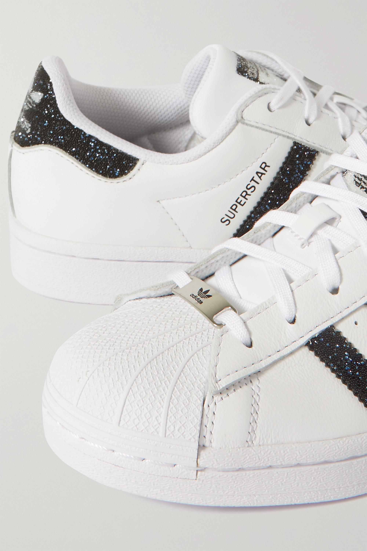 adidas Originals + Swarovski Superstar crystal-embellished leather sneakers