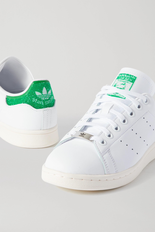 + Swarovski Stan Smith Sneakers aus Leder