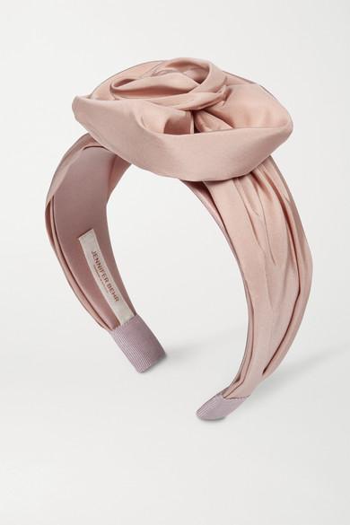 Jennifer Behr - Rosamund Silk-faille Headband - Blush