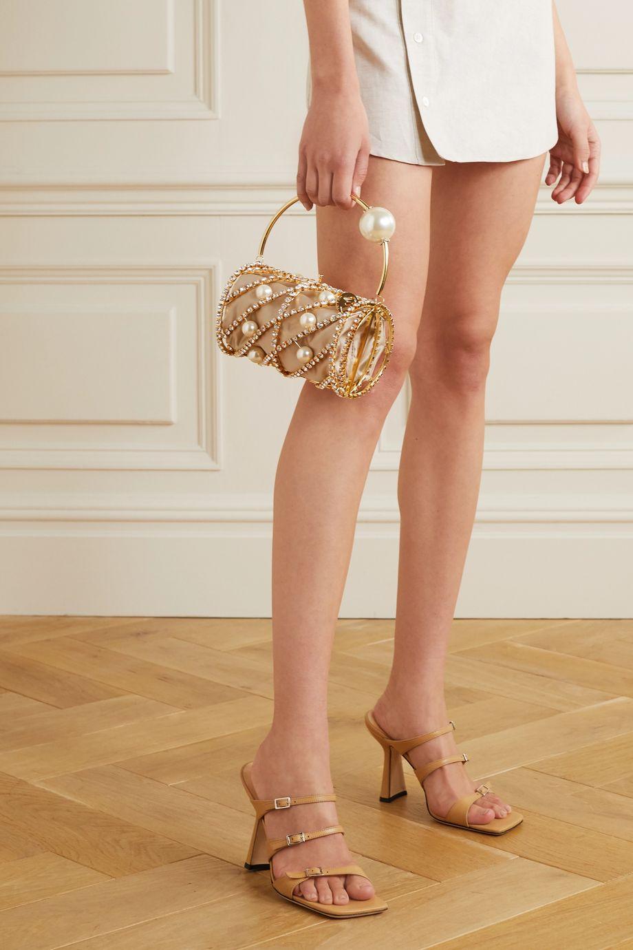Rosantica Brigitta 带缀饰金色手提包