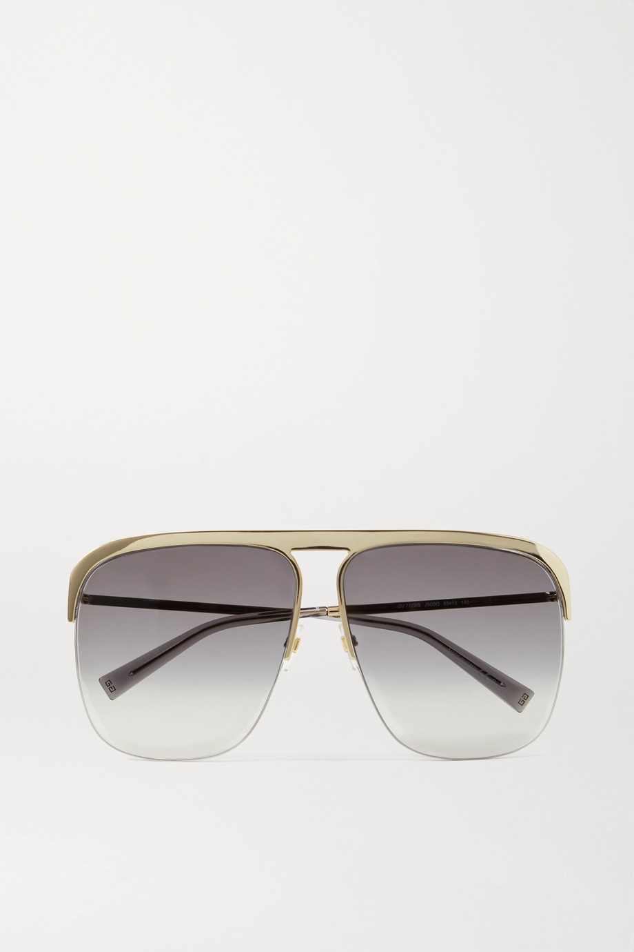Givenchy GV oversized D-frame gold-tone sunglasses