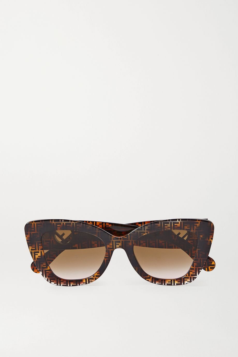 Fendi Cat-Eye-Sonnenbrille aus Azetat in Hornoptik