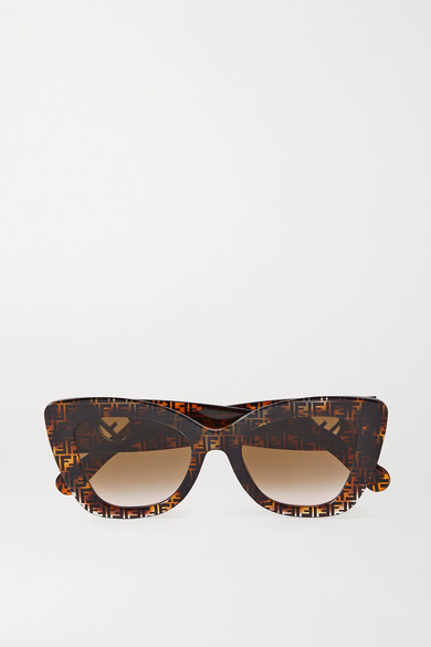 Fendi - Cat-eye Tortoiseshell Acetate Sunglasses - one size
