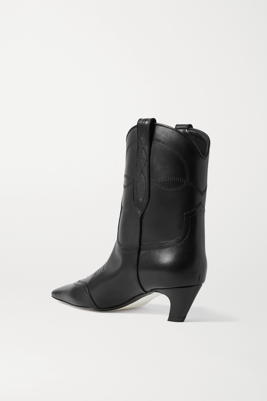Khaite Dallas leather ankle boots