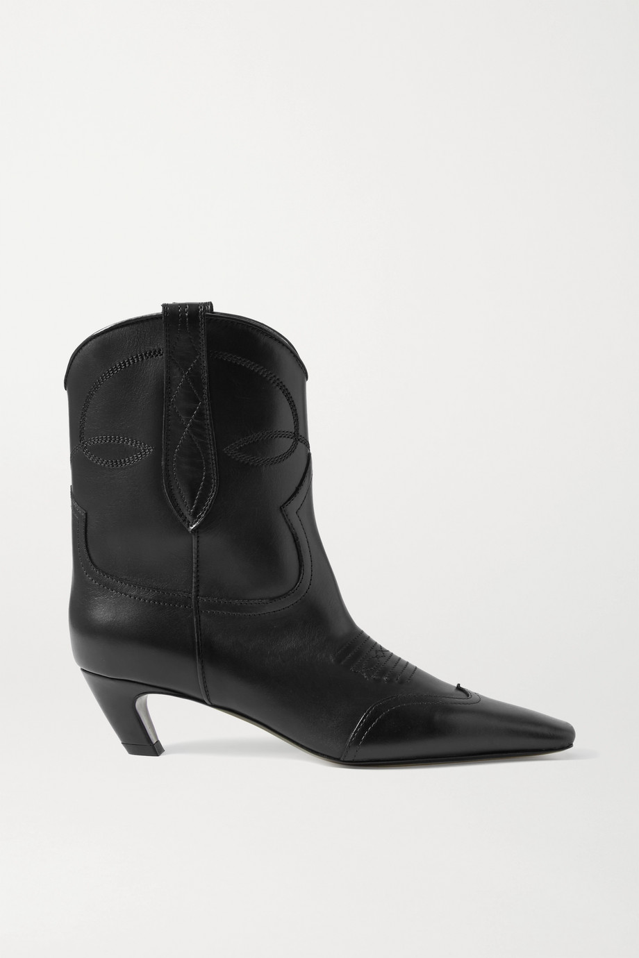 Khaite Dallas leather ankle boots