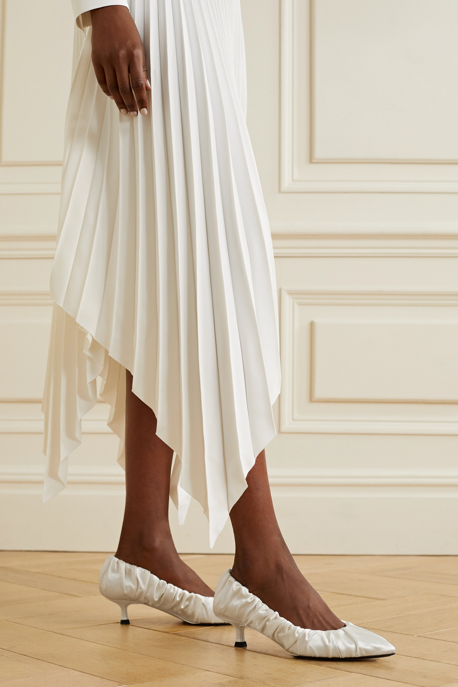 Khaite Palermo gathered satin pumps