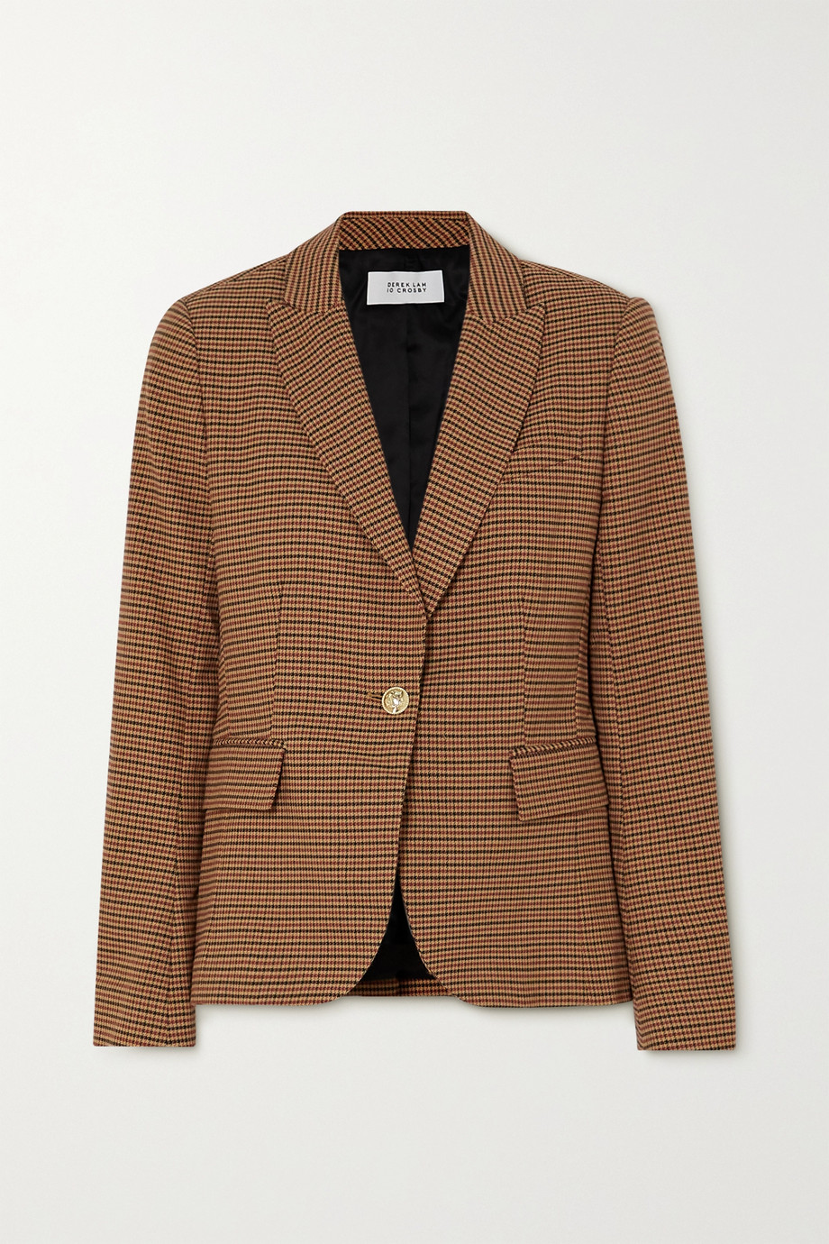 Derek Lam 10 Crosby Allie houndstooth cotton-blend blazer