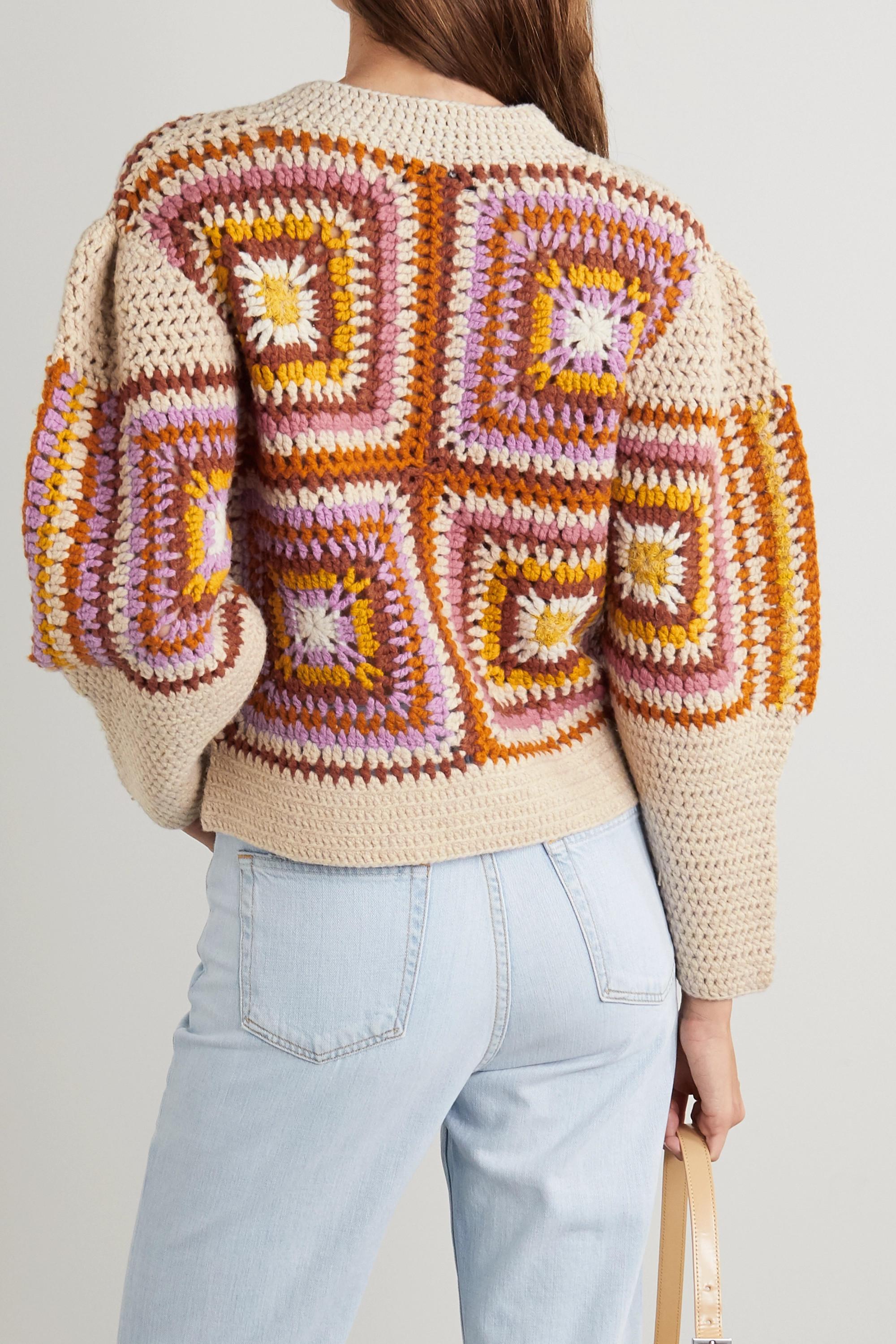 Sea Farrah crocheted wool-blend sweater