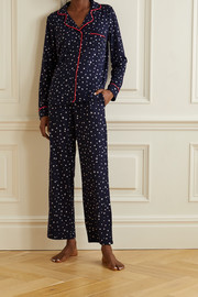 DKNY Printed stretch-jersey pajama set