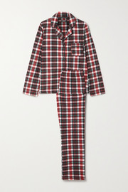 DKNY Checked fleece pajama set