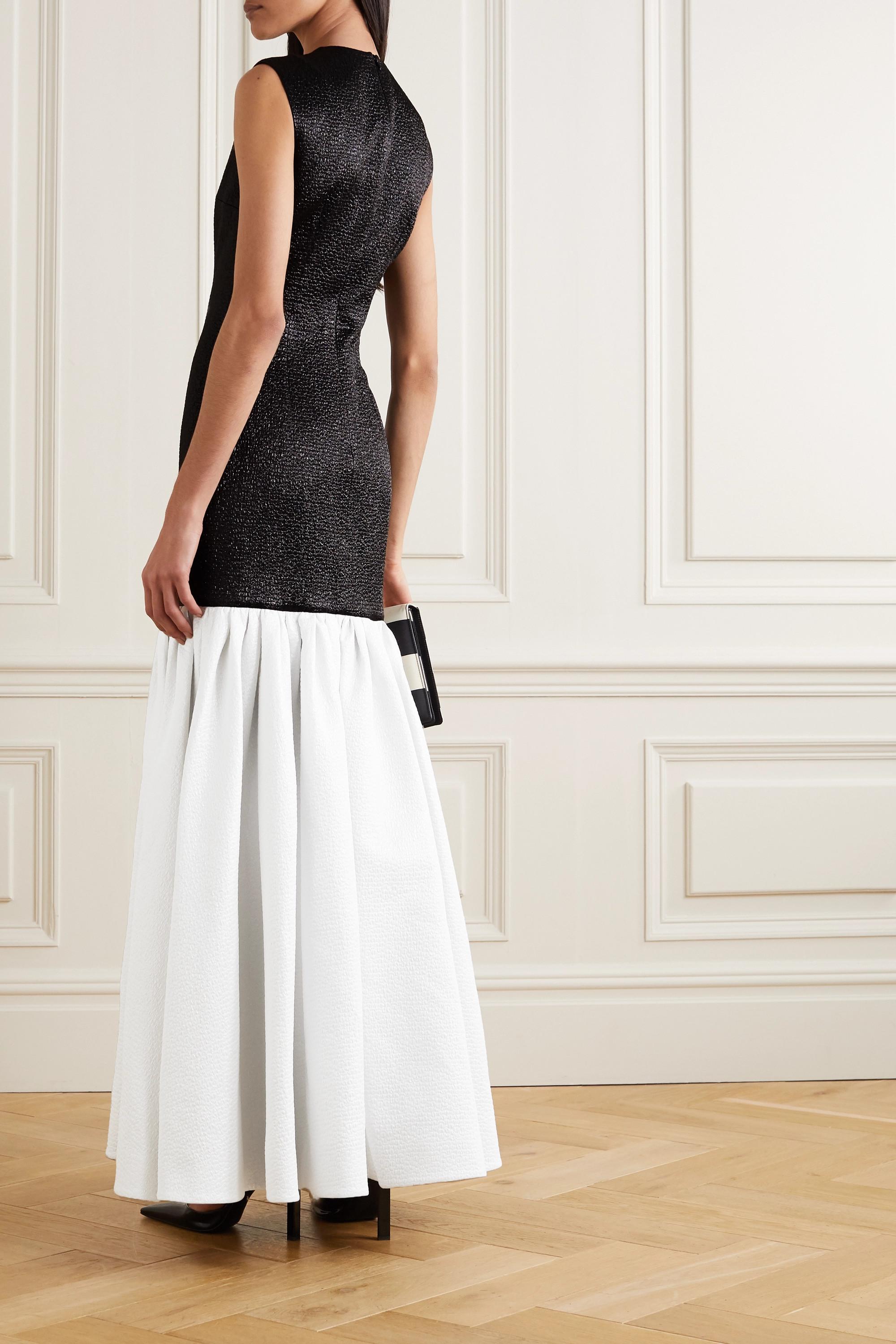 Emilia Wickstead Kay ruffled two-tone cloqué gown