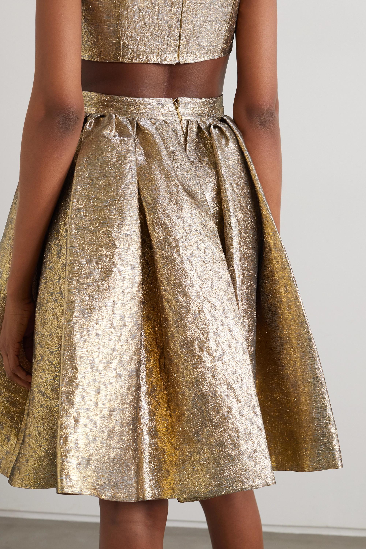 Emilia Wickstead Pleated lamé skirt