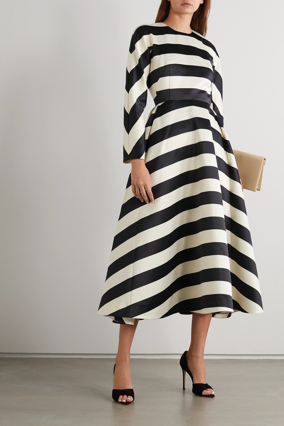 Emilia Wickstead Cruz striped satin dress