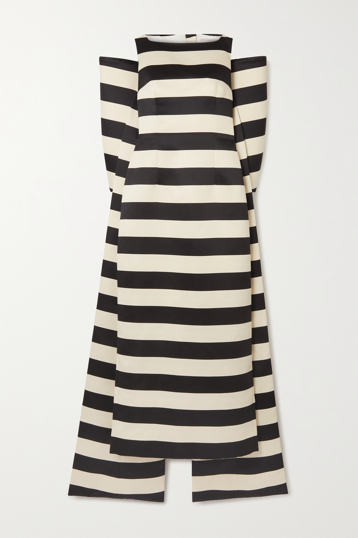 Emilia Wickstead Cruz bow-detailed striped taffeta gown