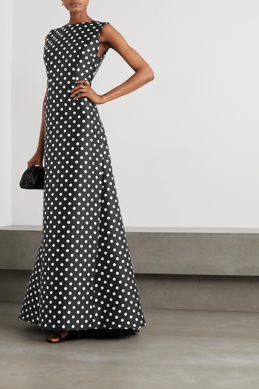 Emilia Wickstead Robe aus Jacquard mit Polka-Dots