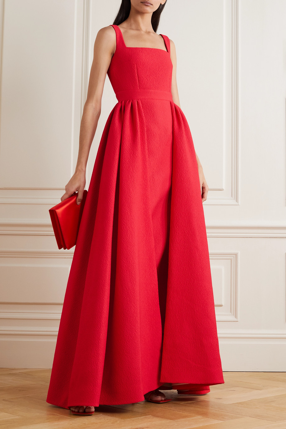 Emilia Wickstead Seaton draped cloqué gown