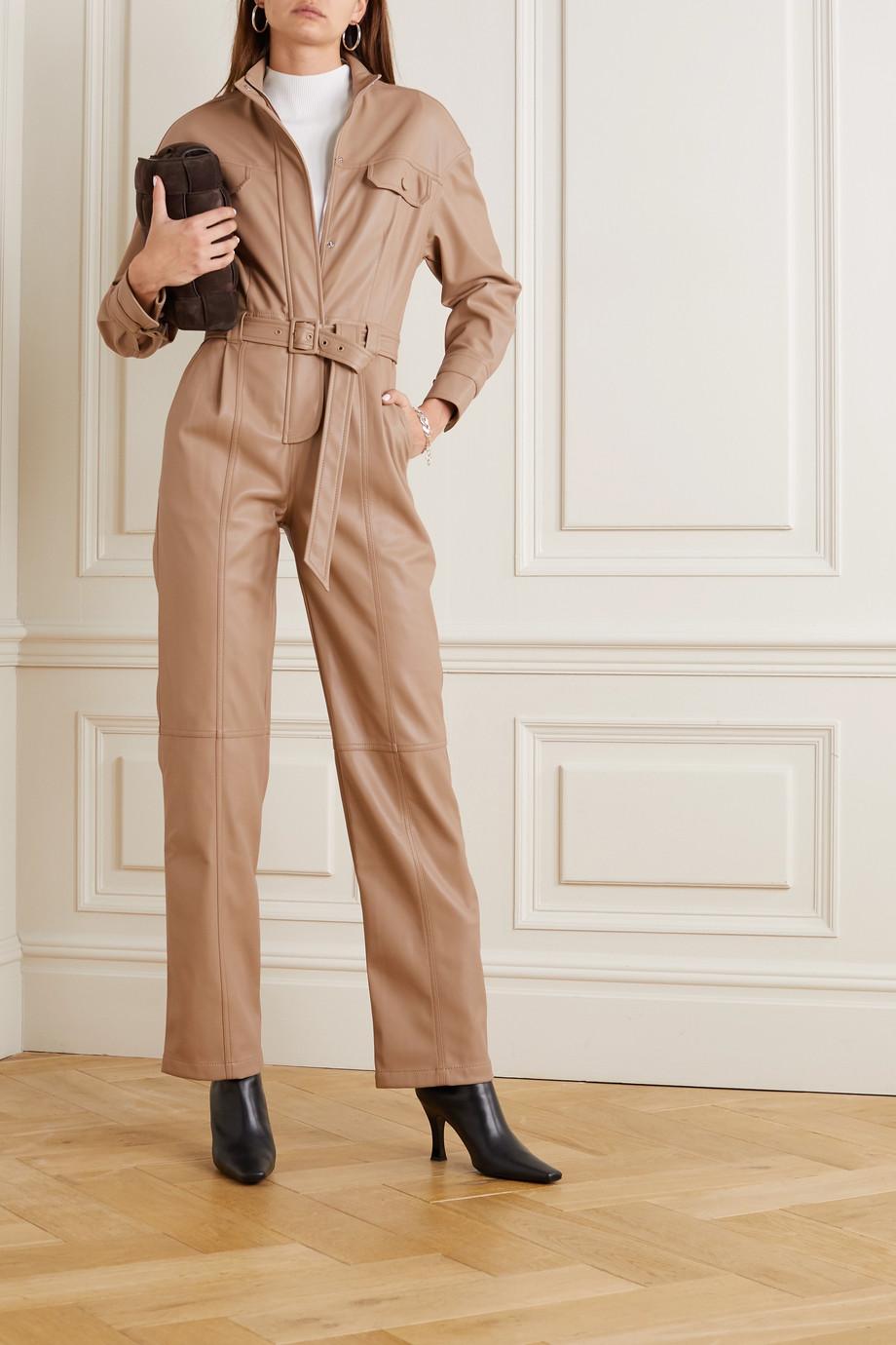 Jonathan Simkhai Combi-pantalon en cuir vegan à ceinture Katerina
