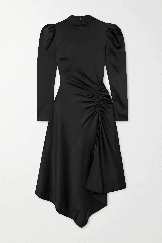Jonathan Simkhai Reese asymmetric gathered satin dress
