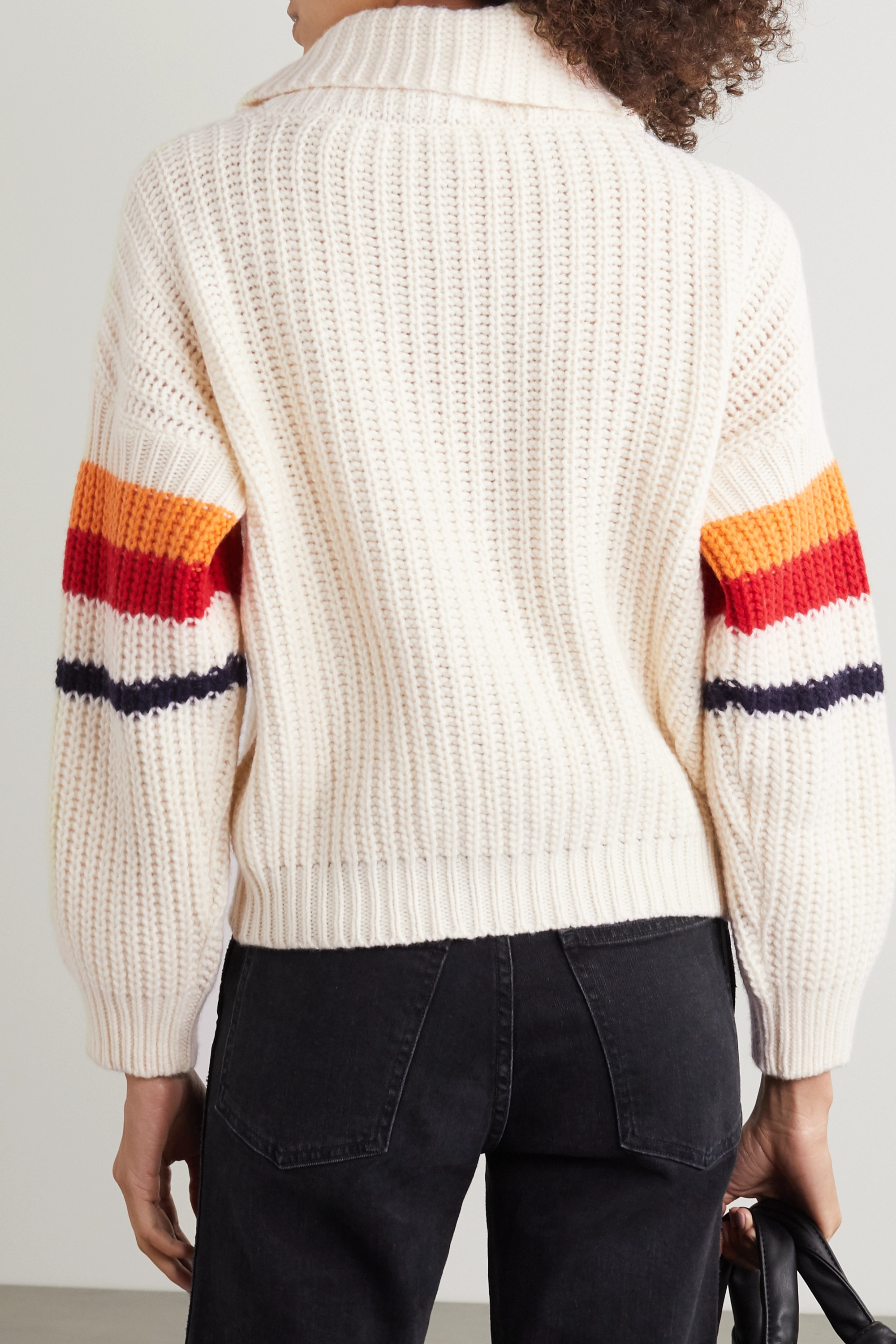 We Norwegians Striped wool and cashmere-blend turtleneck sweater