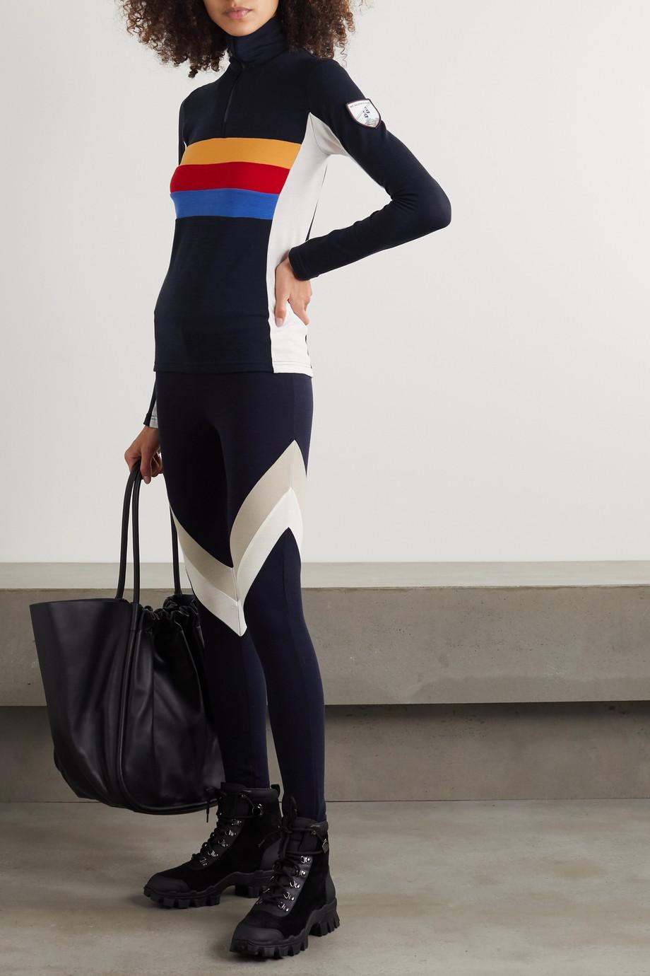 We Norwegians Striped merino wool-blend top